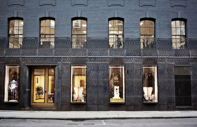 Façade for Paul Smith, London - designed by 6a Architects