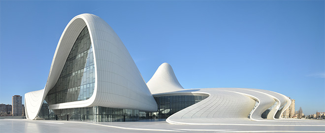 Heydar Aliyev Center, Baku, Azerbaijan - designed by Zaha Hadid and Patrik Schumacher