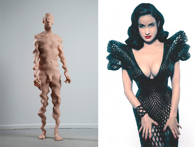 Untitled (5), 2008, by Richard Dupont | 3D-printed dress for Dita Von Teese by Michael Schmidt and Francis Bitonti