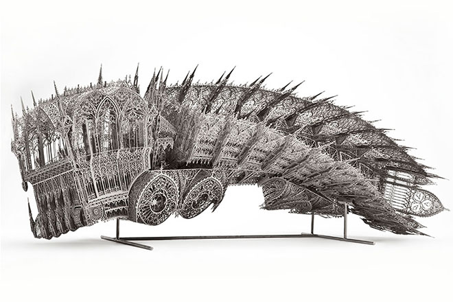 Twisted Dump Truck (Counterclockwise, Scale model 1:5), 2011, by Wim Delvoye