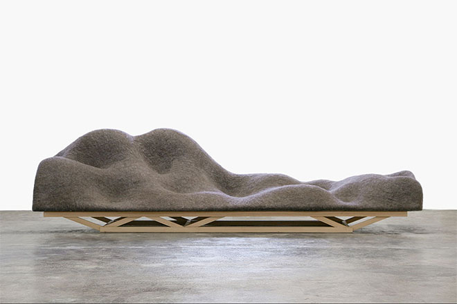 Brain Wave Sofa, 2010, by Lucas Maassen and Unfold