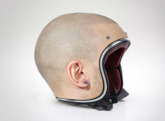 Design Museum- Custom-made Bike Human Heads Helmet by Jyo John-2