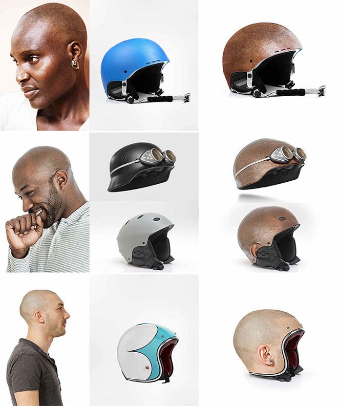 Design Museum- Custom-made Bike Human Heads Helmet by Jyo John-5