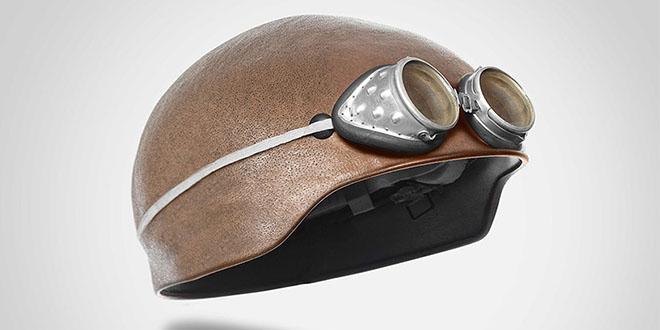 Design Museum- Custom-made Bike Human Heads Helmet by Jyo John